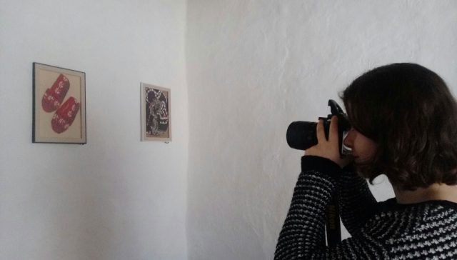 Inci Merve Tasci, Our Volunteer, Shooting İvriz Handcrafts Framed and Hung on The Wall